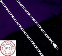 Chaîne Homme,Femme,Argent Sterling,Style Figaro,Fine,45-50cm/2mm,Tendance,Mode