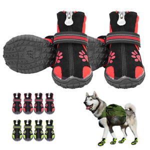 Protective Dog Boots Anti Slip Fleece Waterproof Small Large Pet Rain Snow Shoes