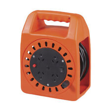 NEW 4 Way Round Cable Reel With 15m Extension Cord MS4039