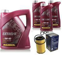 Ölwechsel Set 8L MANNOL Extreme 5W-40 Motoröl + SCT Filter KIT 10201077