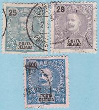 Ponta Delgada 1892 - 1893 King Carlos Sc#4,5d,12 UH Cat: £50+