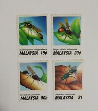 1991 MALAYSIA STAMPS (INSECTS)  SET OF 4 MINT