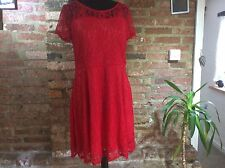 Amoluv red lace dress XL fits UK 14-16
