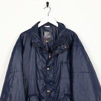 Vintage SERGIO TACCHINI Small Logo Puffer Jacket Coat Blue XL
