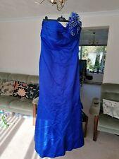 Ladies Peacock Blue Mark Lesley Evening Prom Bridesmaid Dress Size 16 - VGC