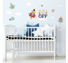 Shoot For The Moon Wall Decals 3 2 1 Blast Off Room Decor Stickers Rocket Ship