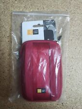"Case Logic Portable External 2.5"" Hard Drive Padded Case Red - NEW"