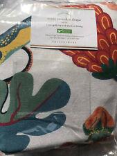"Pottery Barn Serafina Print Linen/Cotton Rod Pocket Blackout Curtain 84"" NEW"