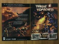 Throne of Darkness PC 2001 Vintage Poster Ad Art Print Fantasy RPG Official Rare