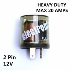 2-PIN12V Electronic Turn Signal Flasher Relay - Bulb 2 Prong - Round Style 20A
