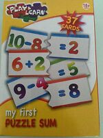 Play and Learn My First Puzzle Sum - 37 Cards