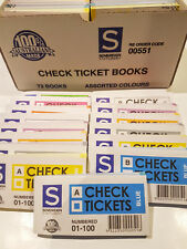 72 x Sovereign Raffle Tickets Check Books Box Door Prize Colours Numbered to 100