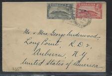 GIBRALTAR  (P2808B)  1934CCKGV ROCK 1D+2D SLOGAN CANCEL COVER TO USA