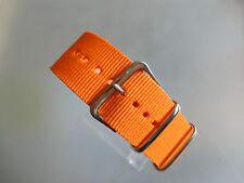 Relojes pulsera nylon 24 mm Orange otan banda hebilla textil