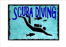 Vintage Style Scuba Diving Sign Diving Wall Plaque Scuba I Love Scuba Diving