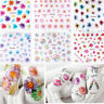 50 Sheets Flower Tips DIY Nail Art Transfer Stickers Decals Manicure Decorations