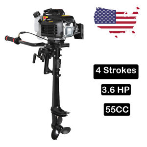 4Stroke 3.6HP Outboard Motor 55CC Boat Engine Heavy Duty With Air Cooling System