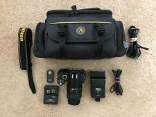 Nikon D40 6.1MP Digital SLR Camera w/18-55mm lens, camera bag, external flash