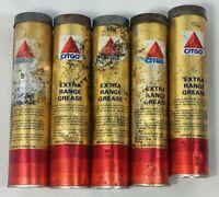 VTG Citgo Grease tube Lot 5 Extra Range Citgo Grease Tube Metal Cap unopened NOS