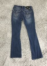 MISS ME Low Rise Whisk Flap Pocket Boot Cut Jeans  JW5305B3 Size 26 X29