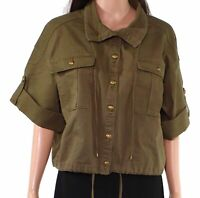 Lauren by Ralph Lauren Womens Jacket Green Size 12 Vondra Twill Cropped $165 547