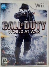 Call of Duty World at War Nintendo Wii Video Game with instructions Used 2008