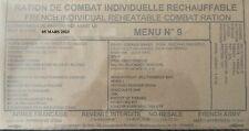 Ration de Combat Individuelle Réchauffable RCIR armée française - Menu n°9