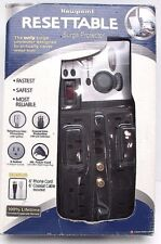 """Newpoint Resettable Surge Protector 8 Outlet Telephone Line Coaxial Line 6"""" Cord"""
