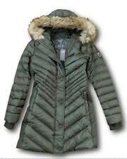 $220 NWT ABERCROMBIE & FITCH LADYS GRAY DUCK FEATHER FILLED COAT PARKA SIZE M