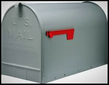 GIBRALTAR Extra Large Mailbox Post Mount Jumbo Capacity XL Steel Mail Box Gray