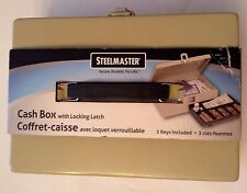 New Steelmaster Heavy Duty Steel Cash Box with Locking Latch Cash Drawer