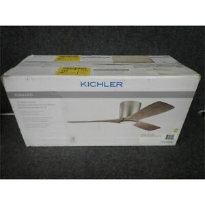 Kichler 300032MWH Volos, 48'' Ceiling Fan with LED Lights & Control, Matte White