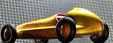 Tether Racer Vintage Midget Race Car GP F Indy 500 1 18 Carousel Gold Metal 12