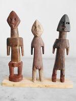 Lot de 3 statuettes AKLAMA ADAN ADE ADA EWE ART TRIBAL AFRICAIN ETHNOLOGIE