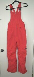 Lands' End 14 Red Snow Bib Snow Suit