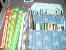 Knitting Needles Aluminum & Plastic Bamboo Knit Crochet Lot
