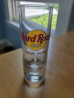 Hard Rock Cafe Shot Glass NEW YORK Red Letter Shooter Tall Glassware Double 4""