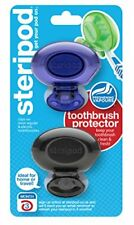 Steripod Clip-on Toothbrush Protector 2-Pack Violet  Black Pearl I Protects A