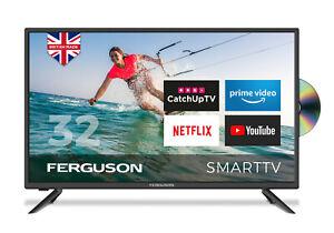 "FERGUSON 32"" INCH SMART LED TV DVD, FREEVIEW HD, WIFI, HDMi, USB, BRAND NEW"
