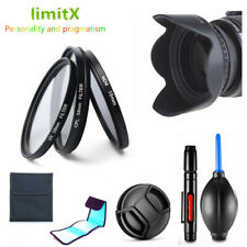 Filter UV CPL ND + Lens Hood + Cap for Nikon Coolpix P1000 Digital Camera