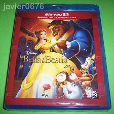 LA BELLA Y LA BESTIA BLU-RAY 3D + BLU-RAY CLASICO DISNEY 30 NUEVO Y PRECINTADO