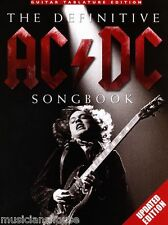 The Definitive AC/DC GUITAR TAB Songbook Learn to Play ROCK BACK IN BLACK SONGS