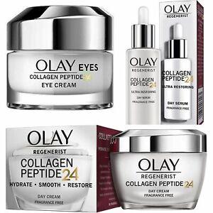 OLAY COLLAGEN PEPTIDE24 Day Cream, Serum And Eye Cream , New & Genuine