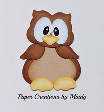 Craftecafe Mindy Owl Woods Outdoors Diecut premade paper piecing scrapbooking