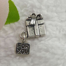 Free Ship 88 pcs tibet silver gift charms 26x11mm  #100
