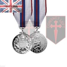 Official Queens Silver Jubilee Miniature Medal and Ribbon 1977 ( 100% UK Made