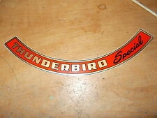 1958 1959 FORD THUNDERBIRD SPECIAL AIR CLEANER TOP LID DECAL STICKER NEW CORRECT