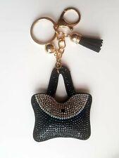 Black bag Key ring Women Diamante Handbag Charm Key Chain Gift Girl Key ring