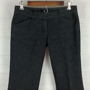 EXPRESS Editor womens size 6 x 32 stretch faded black flare denim trouser pants