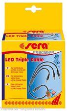 Sera LED Triple Cable Verteiler bis 3 Tubes eine Stromquelle Aquarium Kabel